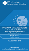 IEO OVARIAN CANCER CENTER-OCC 10 YEARS OF ACTIVITY
