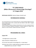 II° CORSO MUGO - Milan Ultrasound in Gynaecologic Oncology